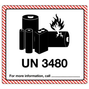 UN3480 lithium battery mark